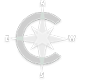 Charter Realty Logo Compass Rose